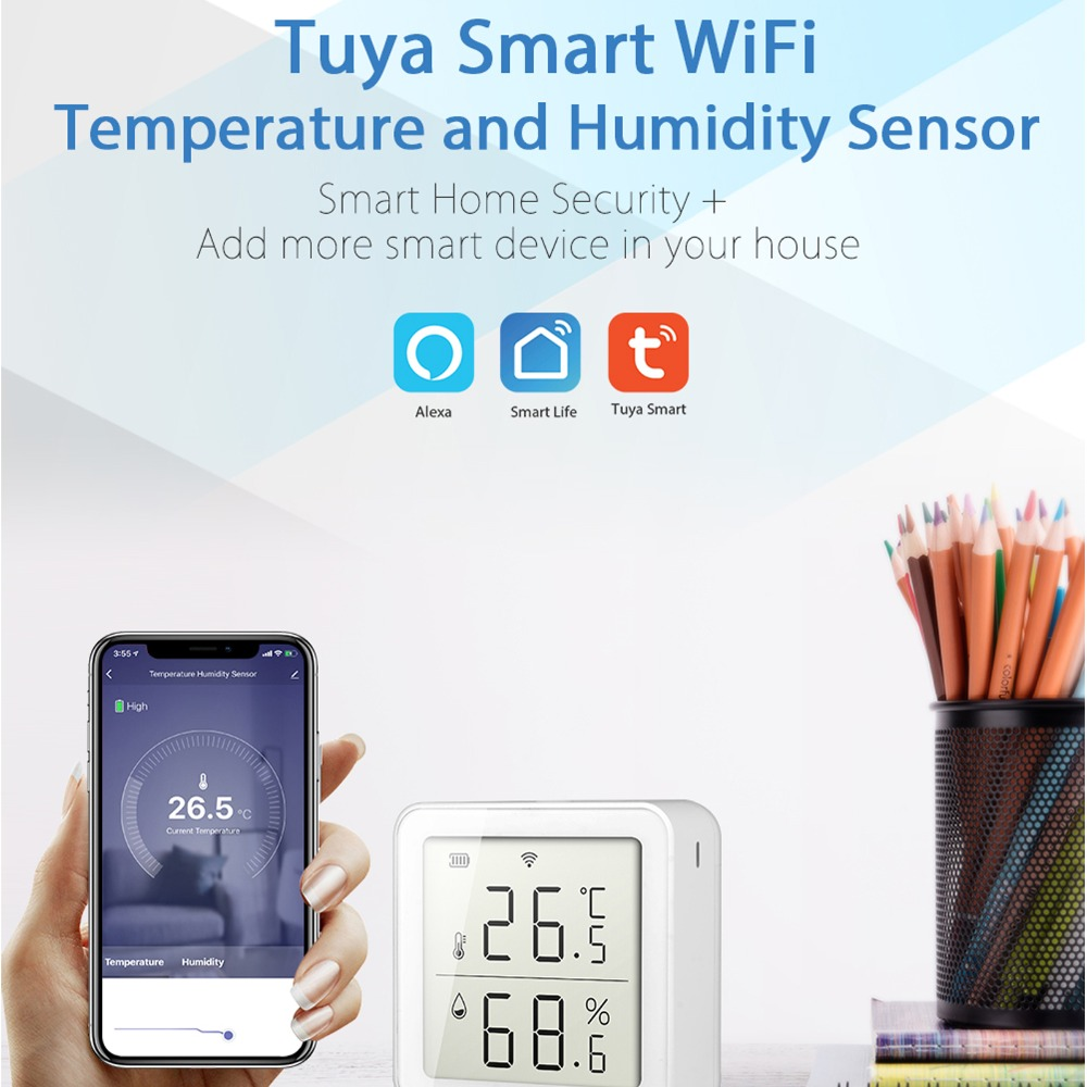 higrômetro interior termômetro com display lcd para casa inteligente