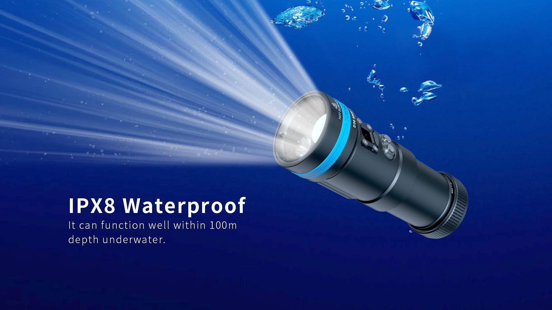 Xtar d36 mergulho lanterna kit oled tela