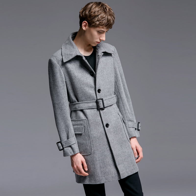 Autumn Wool Men Winter Man Trench Medium Long Solid Business Overcoats Plus Size 6xl Mens Jackets And Coats