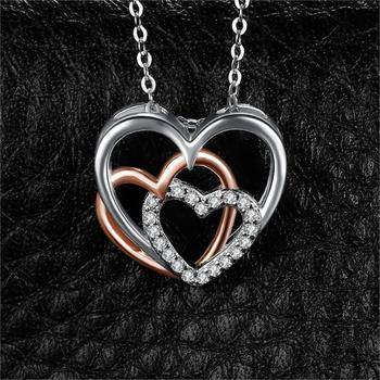 Heart to Heart Silver Pendant Necklace  1