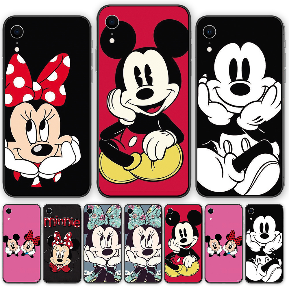 Cute cartoon <font><b>Mickey</b></font> Mouse Silicone soft Cases cover For <font><b>iphone</b></font> XR X XSMAX 5 5S <font><b>6</b></font> 6S 7 8 Plus 11 11ProMax <font><b>Coque</b></font> Funda image