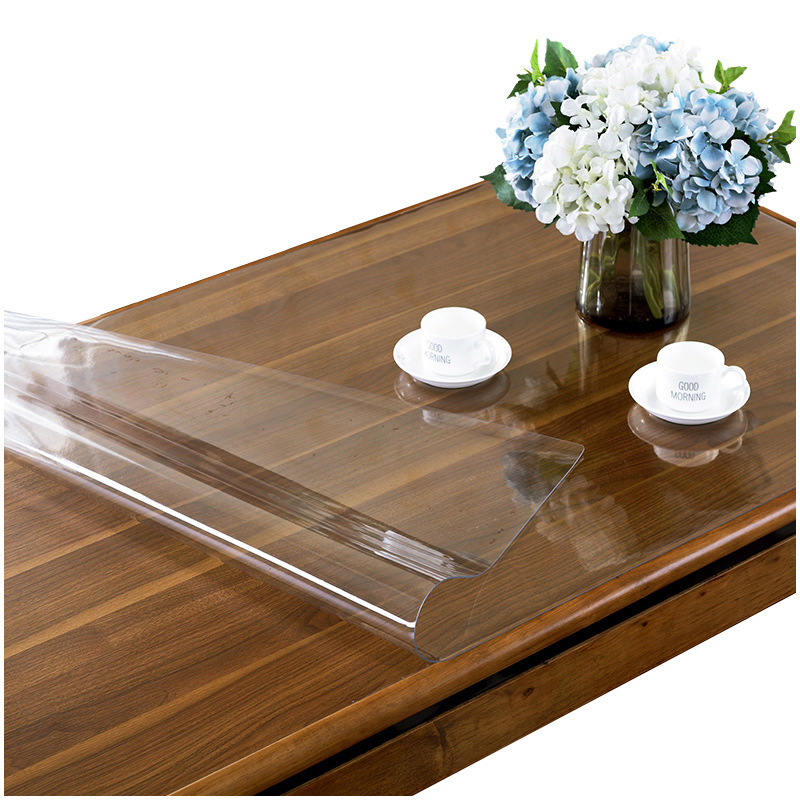 Ultimate Deal«Soft Glass Tablecloth Rectangular Table-1.0mm Transparency Kitchen Waterproof PVC