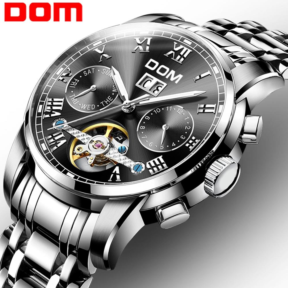 DOM Mens Watches Top Luxury Brand Automatic Mechanical Watch Men Business Waterproof Sport Watches Relogio Masculino M-75D-1M