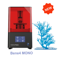 NOVA3D Bene4 Monochrome Screen Metal 3d Printer Super Quality Fast Printing 3D Printer UV Curing Model DIY Kits Upgrade Version