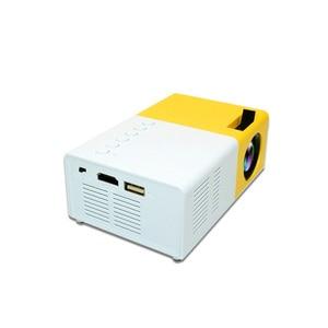 Image 2 - J9 PK Yg 300 מיני מקרן Led HD 1080P עבור AV USB מיקרו SD כרטיס USB מיני בית מקרן נייד מקרן כיס צהוב