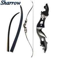 58'' Recurve Bow 20 55lbs Archery Takedown Bow Aluminum Alloy Bow Rise Bamboo Glass Fiber Limbs Perfect Hunting Fishing Shooting