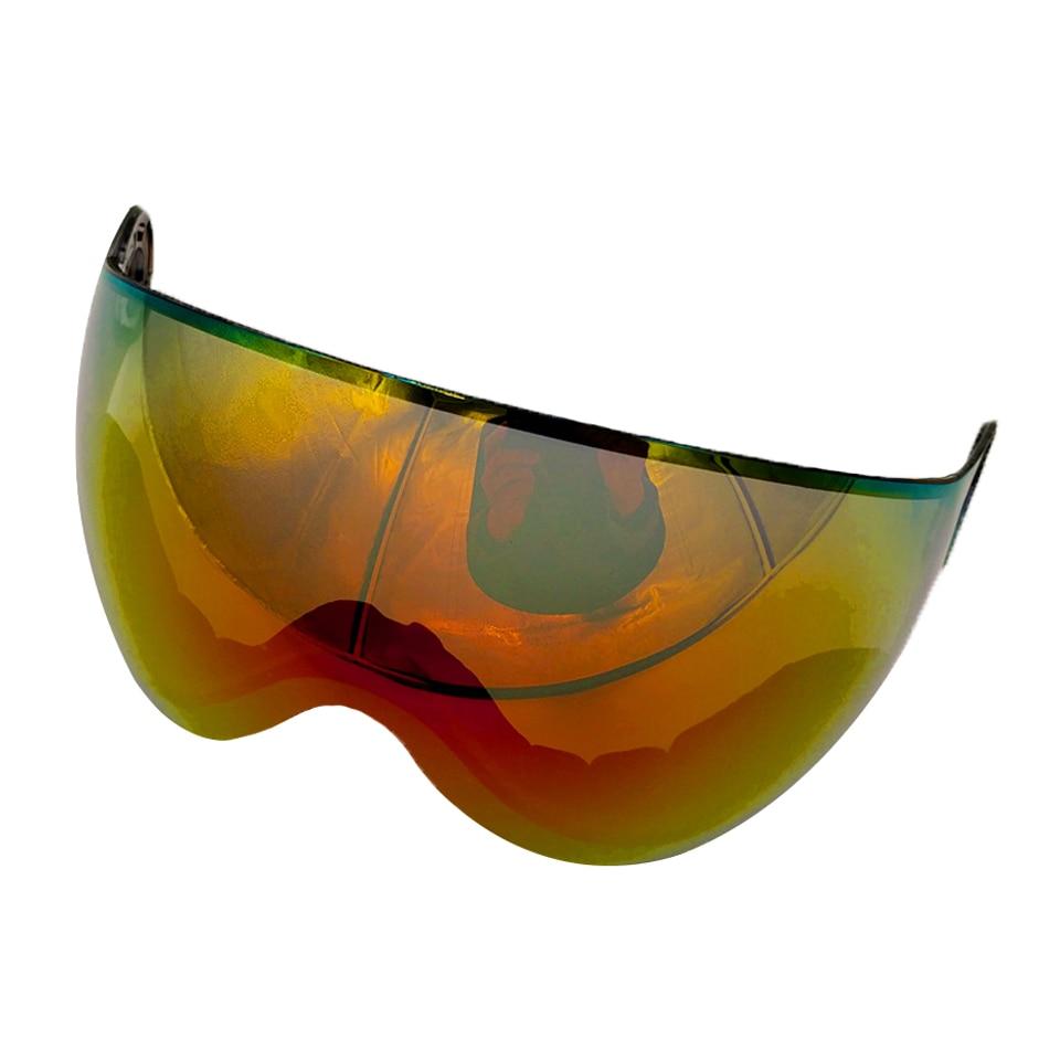 LOCLE лыжный сноуборд шлем козырек объектив Съемная Снежная Маска Анти-туман Анти-УФ интегрированный Goggle щит для MS95 и MS99
