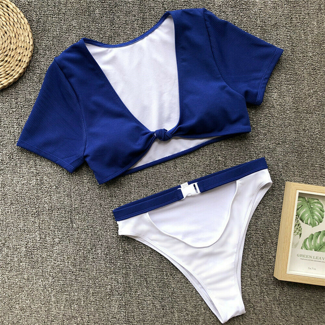 Swimsuit Women Bikini Set High Waist Bathing Suit Ladies Beachwear Biquinis Feminino 2019 Bathing Suit Women Swimming Suit 8