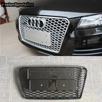 Car styling 2012~2015 A7 RS7 Sline black Emblem Front Bumper mesh Grill Grille For Audi A7 S7 RS7 S Line