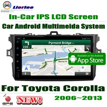 """Car Android Player For Toyota Corolla (E140) Sedan 2006~2013 9"""" IPS LCD Screen GPS Navigation System Radio Audio Video"""
