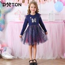 DXTON/Новое Детское зимнее платье для девочек с блестками; Платье для маленьких девочек; Рождественская одежда для детей; Платье принцессы с д...
