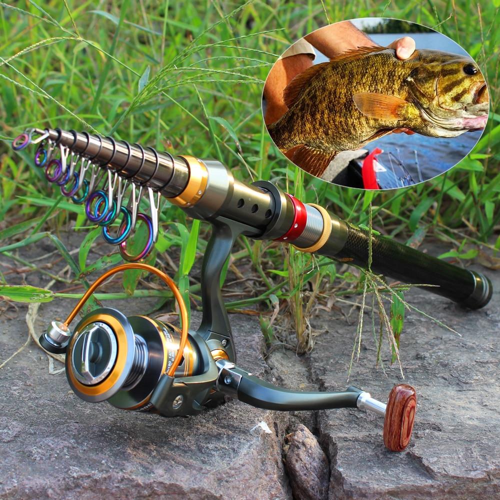 Sougayilang 1 8 3 6m Telescopic Fishing Rod and 11BB Fishing Reel Wheel Portable Travel Fishing