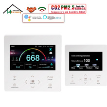 HESSWAY WIFI MODBUS PM2.5&CO2 Sensor Controller for Air Quality Monitor Indoor Outdoor