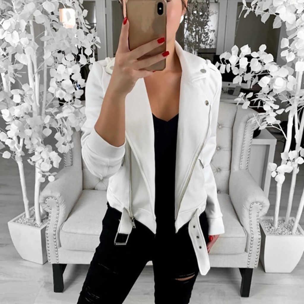 オートバイ女性秋長袖コートオープンフロントショートカーディガンスーツ女性ジャケット作業オフィスコート abrigo mujer フォーマル 9.5