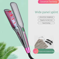 Infrared Heated Hair Straightener Ceramic Flat Iron Professional Salon Style Tools
