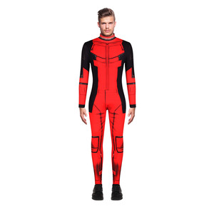 Image 4 - סופרמן קוספליי תלבושות גיבור Bodysuits למבוגרים סופר איש מגיבורי תלבושות מערער סרבלי חזרה רוכסן ליל כל הקדושים מפלגה