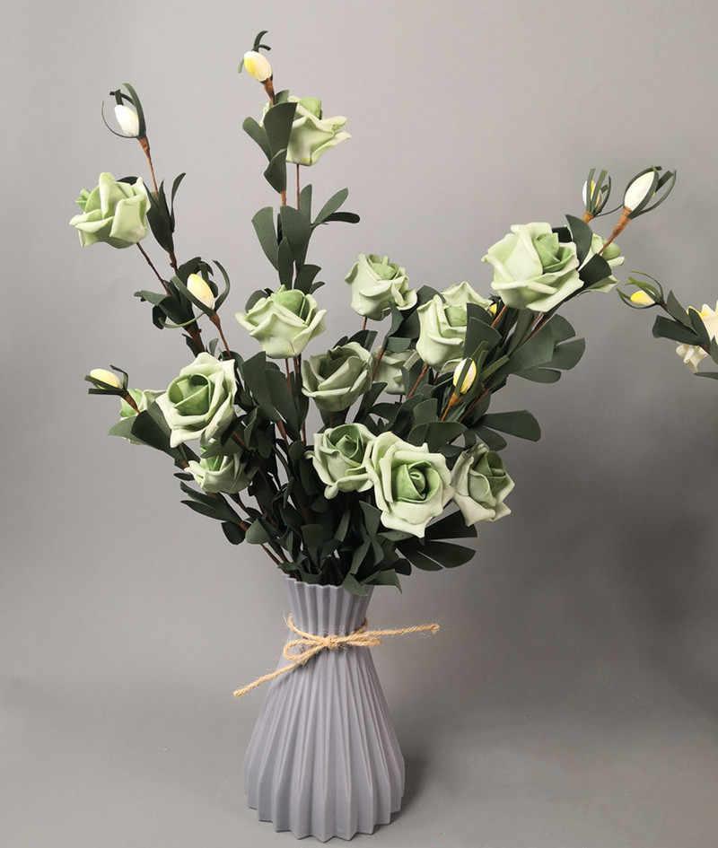 البلاستيك زهرة المزهريات تقليد أصيص ورد سيراميك سلة الشمال نمط الديكور منضدية النباتات ديكور المنزل بونساي