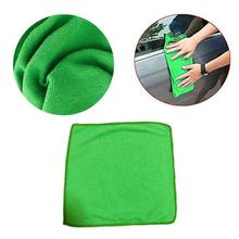 5 pcs Green  Microfiber Clean Auto Car Detail Soft Cloths towels Wash Duster For Home Kitchen Cleaning Tool