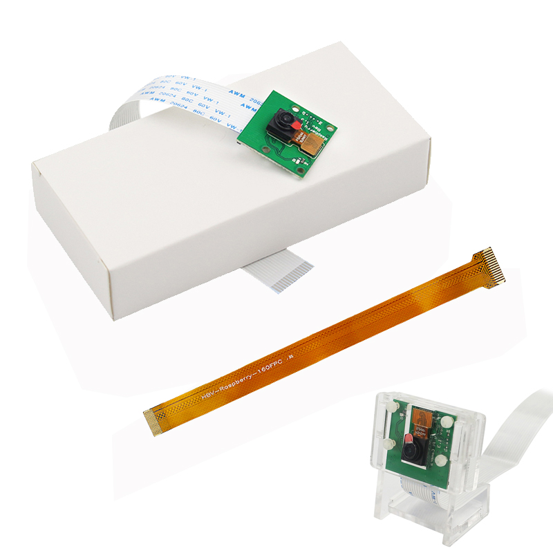 Raspberry Pi 4 Model B Camera Module 1080p 720p Mini Camera 5MP Webcam Video Camera Compatible For Raspberry Pi 3 Model B+/3B/2B