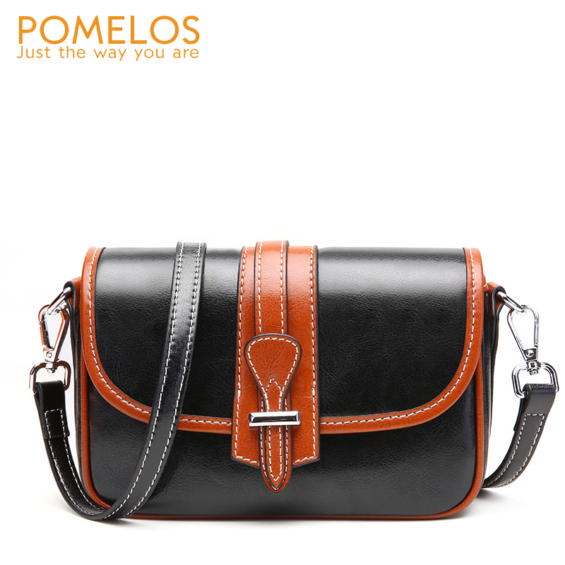 POMELOS Fashion Woman Shoulder Bag High Quality Split Leather Purses and Handbags Small Crossbody Bags For