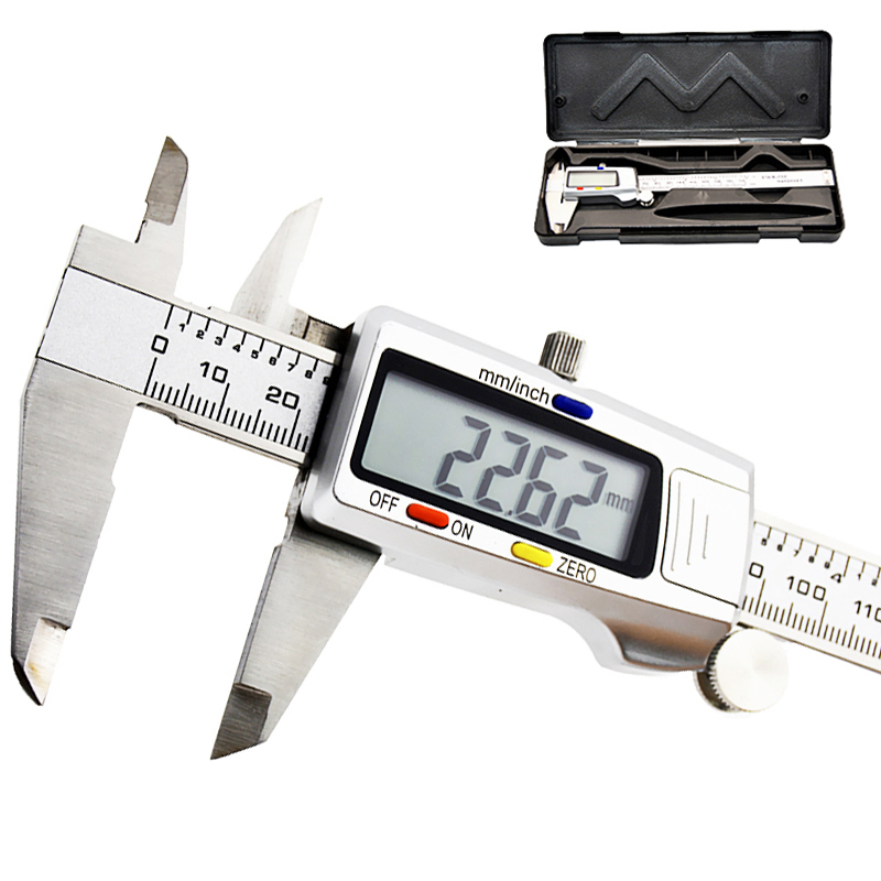 Electronic Digital Caliper 6 Inch 150Mm Measuring Tool Stainless Steel