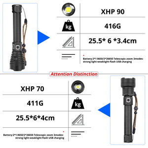 Image 2 - Newest  XHP90 Rechargeable LED Flashlight XHP70.2 Tactical Torch Waterproof Zoom Hunting Light Use18650 or 26650 Battey