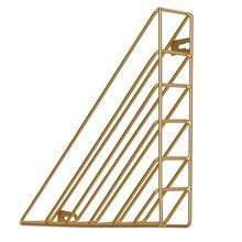 Современная простая настенная книжная полка в скандинавском стиле, настенная подвесная треугольная стойка для хранения из кованого железа, плавающая книжная витрина