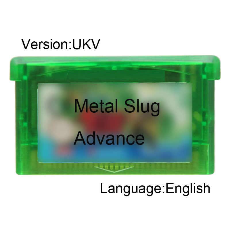 Металлический Slug Advance 32 бит картридж для видеоигр консоль карта версия UKV язык
