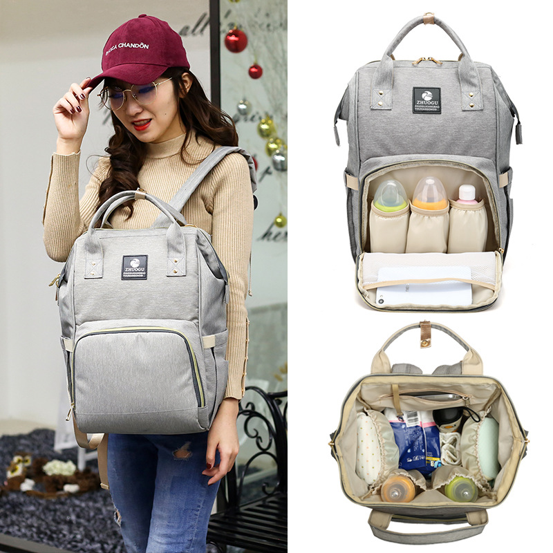 New Style Backpack Large-Volume Diaper Bag Multi-functional Mom Nursing MOTHER'S Bag Pregnant Women Hand Chu Xing Bao Waterproof