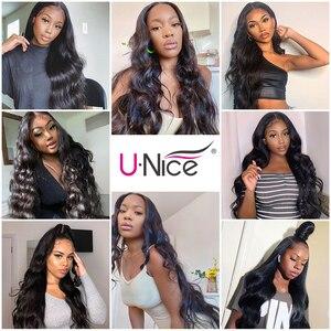 Image 5 - UNice mechones de cabello ondulado peruano de 28 pulgadas, extensiones de cabello humano 100%, tejido de cabello virgen, Color Natural, 1 unidad