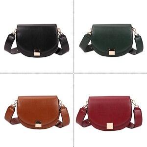 Image 3 - Brand Hoge Kwaliteit Pu Leer Vrouwen Hasp Zadel Tassen Designer Luxe Vrouwen Tas 2020 Famale Vintage Schouder Messenger Bags