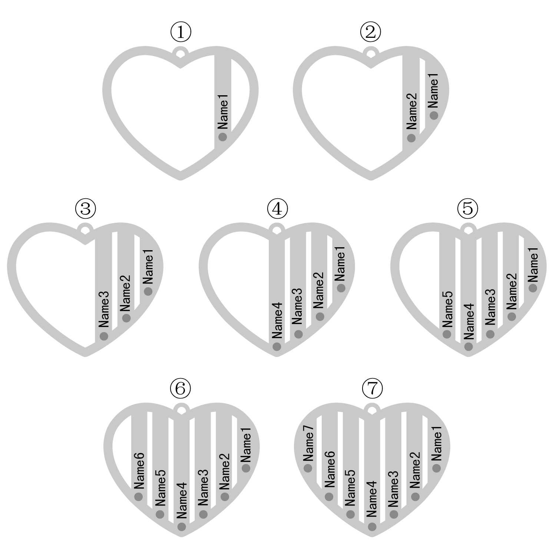 Kişiselleştirilmiş aile adı kolye hediye için anne büyükanne Birthstone tabela takı kalp kazınmış adı kolye