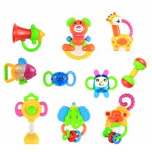 Maternal And Child Supplies Environmental Protection Early Childhood Education Baby Rattle Baby monkey Teether Toy