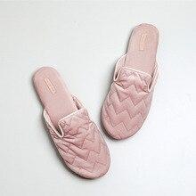 2019 New IG Hot Sale woman Sleek minimalist Pink office slippers women mute non-slip indoor home rubber bottom
