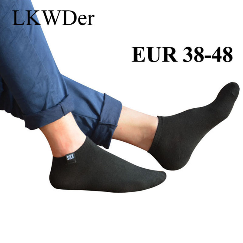 LKWDer 5 Pairs Mens Socks Harajuku Fashion Extra Large Big Plus Size 45,47,48 Ankle Socks Men Casual Sox Calcetines Hombre Meias