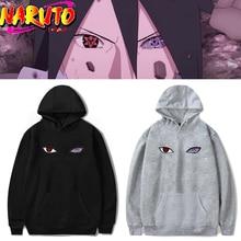 Anime naruto uchiha sasuke hatake olhos hoodie cosplay traje impressão unisex halloween rinnegan pulôver moletom