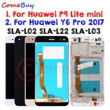 Comebuy Display Für Huawei P9 Lite mini LCD Display Y6 Pro 2017 SLA L22 SLA L02 Touch Screen Mit Rahmen Für Huawei p9 Lite mini