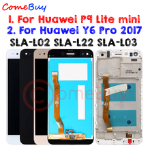 Comebuy Display For Huawei P9 Lite mini LCD Display Y6 Pro 2017 SLA L22 SLA L02 Touch Screen With Frame For Huawei P9 Lite mini