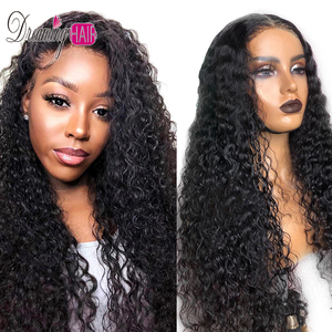 Wet And Wavy Curly Short Lace Front Human Hair Bob Wig 13*6 Deep Parting 150% density Remy Lace Front Wig Virgin For Black Women(China)