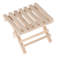 1 12 Doll House Wooden DIY Miniature Furniture Beach Folding Table with excellent workmanship For Kids For Mini Furniture Toys cheap JETTING