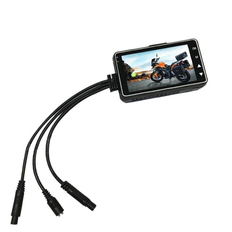 LCD HD Motorrad Auto Action Dual Kamera Video Recorder Dash Cam Wasserdichte Split Nachtsicht Fahren Recorder