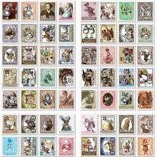 80 uds/1 set vintage Alice Kawaii papel recortes deliy planificador pegatinas anotador notas adhesivas/filofax/Corea papelería 7321