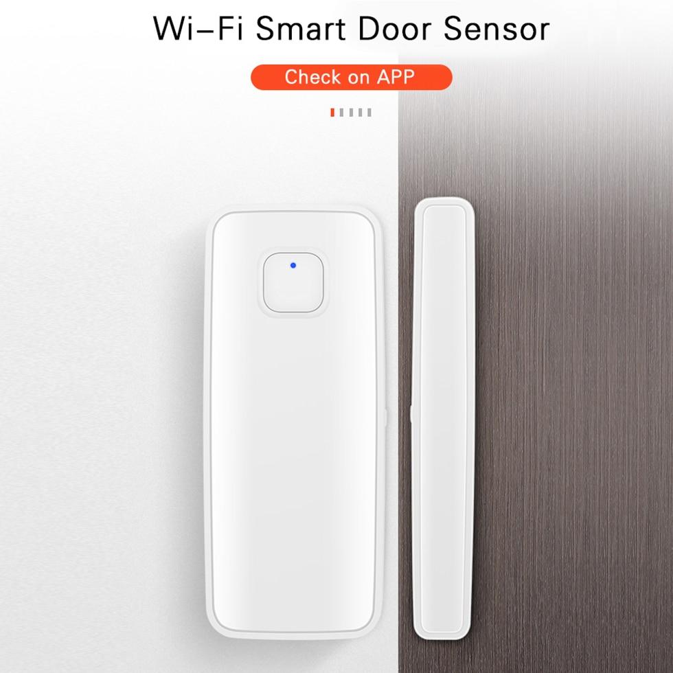 Tuya мобильное приложение WiFi датчик окна двери умный беспроводной магнитный детектор Голосовое управление с Amazon Alexa Google Assistant IFTTT