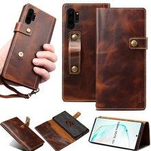 Pour Coque Samsung Note 20 Ultra S20 Plus Note 10 S10 portefeuille à rabat en cuir véritable étui pour Samsung S20 Funda