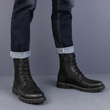 Brand High Quality Genuine Leather Men Waterproof Boots Men Casual Shoes Fashion