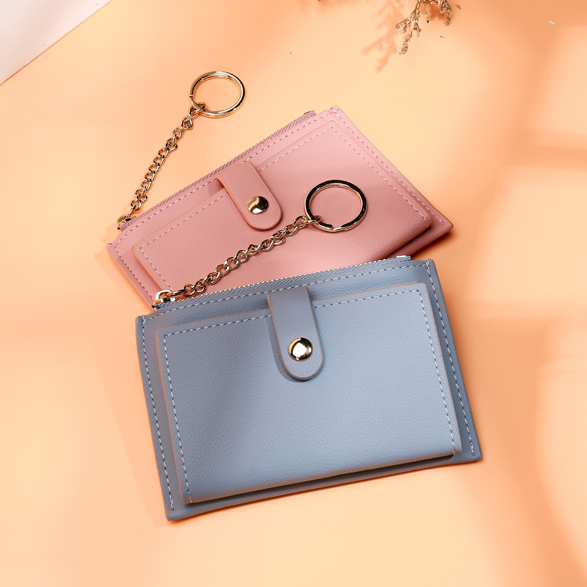 2019 New Style Women's Short Coin Purse Korean-style Casual Zipper Coin Small Card Holder Spell Purse Women's
