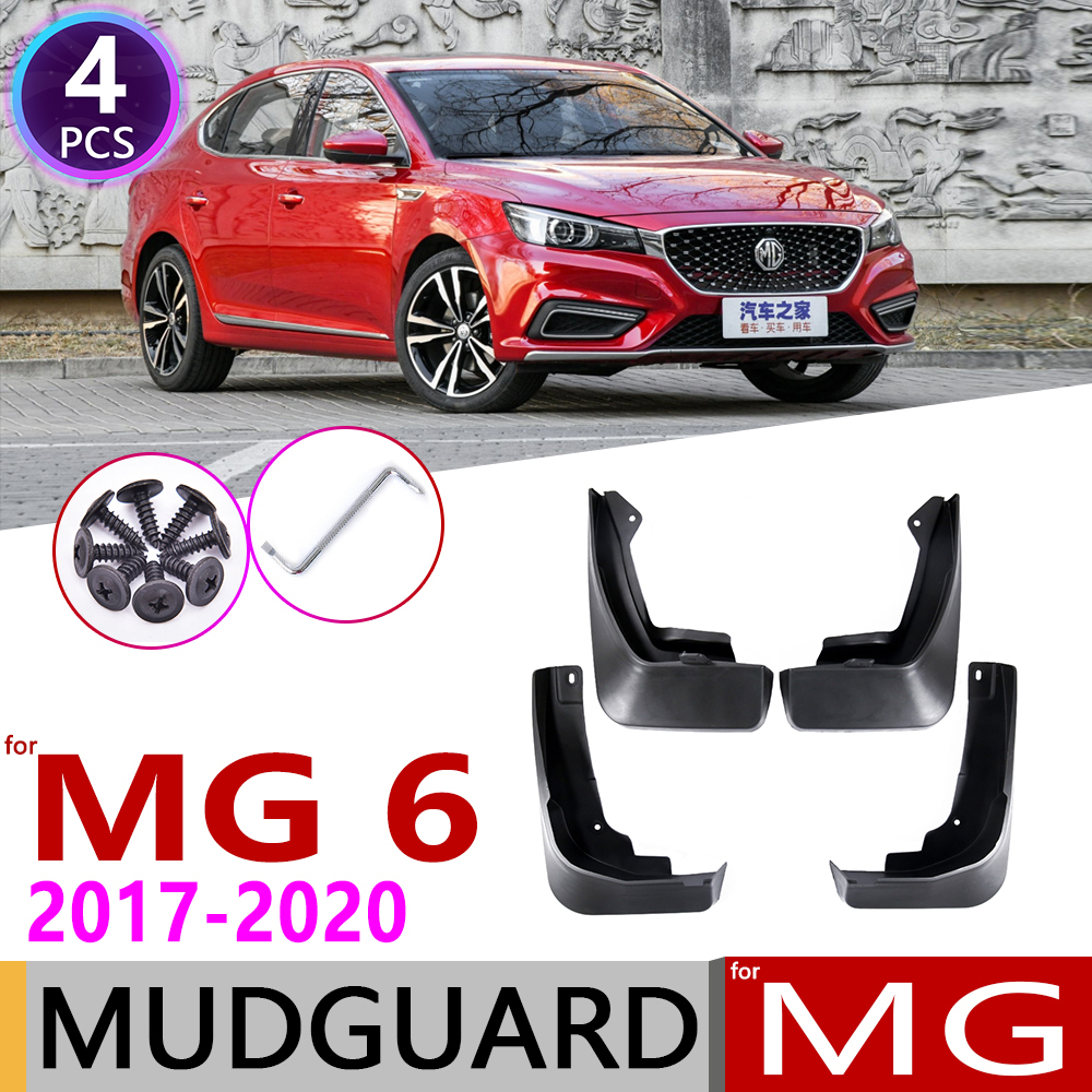 4 PCS for MG 6 <font><b>MG6</b></font> 2017~2020 Front Rear Car Mudflaps Fender Mud Guard Flaps Splash Flap Mudguards Accessories 2rd Gen 2018 <font><b>2019</b></font> image