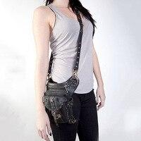 Women Waist Bag Female Fanny Pack Belt Bags Small Leg Bag Steampunk Bags Gothic Messenger Bag Hip Hop Bum Pack Fashion Purse D05
