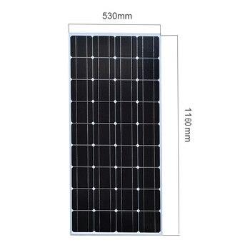XINPUGUANG 200w solar kit system plate 2 pcs 100 watt 18v Glass solar panel modul mit pv stecker für dach auto caravan home 2
