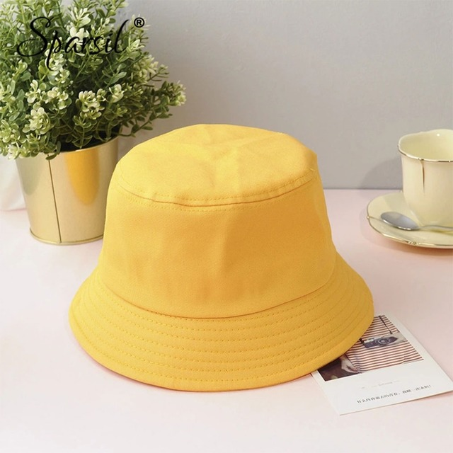 Sparsil Unisex Summer Foldable Bucket Hat Women Outdoor Sunscreen Cotton Fishing Hunting Cap Men Basin Chapeau Sun Prevent Hats 1